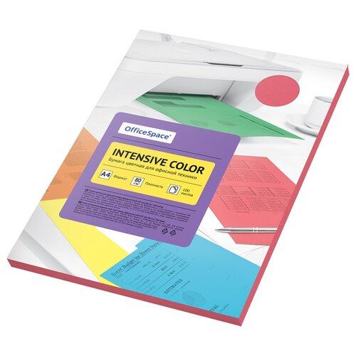 Бумага OfficeSpace A4 Intensive Color 80 г/м2 100 листов, красный