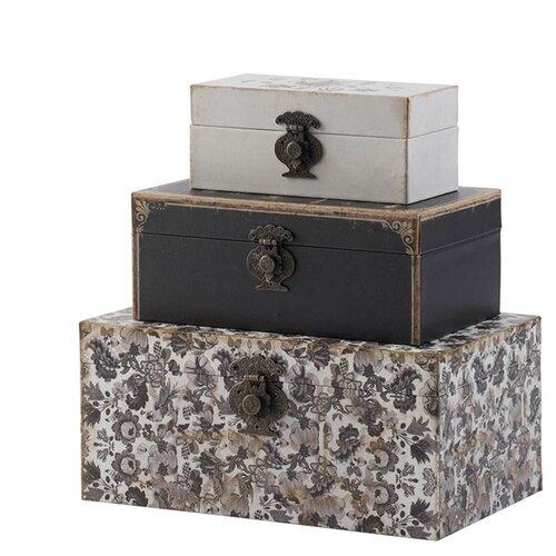 Шкатулки, набор из 3 предметов 31x19x14см