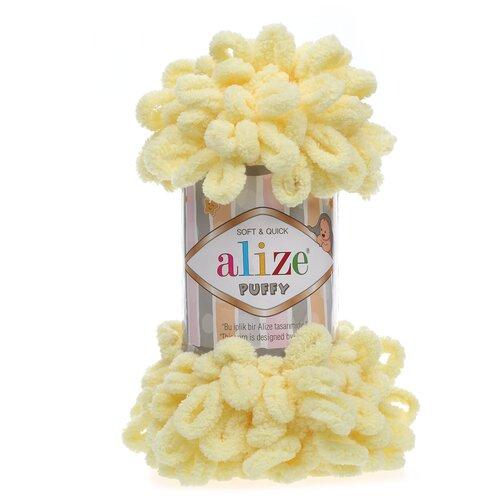 Купить Пряжа для вязания Alize 'Puffy' 100г 9м (100% микрополиэстер) (13 желтый), 5 мотков