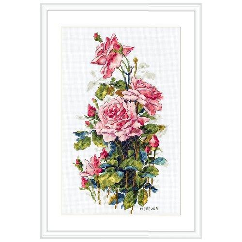 Купить Набор для вышивания Розовые розы MEREJKA K-155, Мережка, Наборы для вышивания