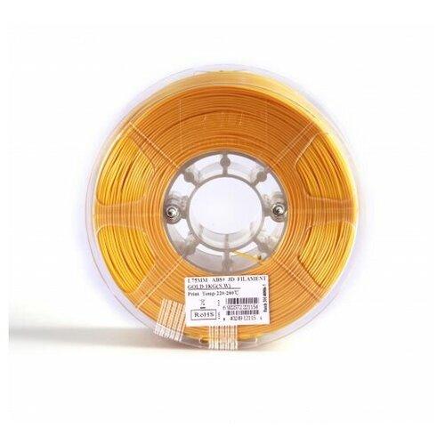 Филамент eSun ABS+ (пластиковая нить АБС+) для 3D принтеров Anycubic, Anet, Wanhao, Ender и др, 1.75 мм, золотой, 1 кг, ABS+175J1