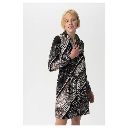 Платье Vero moda 10225746 женское Цвет Черный Black Анималистичный р-р 42 XS майка vero moda 10212778 размер xs черный