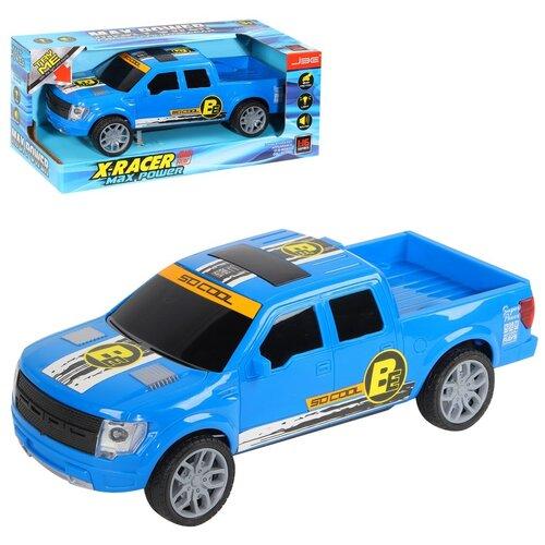 Купить Машинка детская инерционная Пикап со светом и звуком, на батарейках, цвет синий, в/к 29*13, 5*12см, Компания Друзей, Машинки и техника