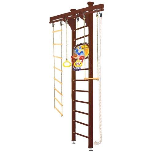 Купить Шведская стенка Kampfer Wooden Ladder Ceiling Basketball Shield высота 3 м шоколадный, Игровые и спортивные комплексы и горки