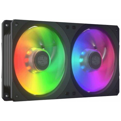 Вентилятор для корпуса Cooler Master MasterFan SF240R ARGB черный/ARGB 1 шт. вентилятор cooler master masterfan sf240r argb 2x120mm argb mfx b2d2 18npa r1
