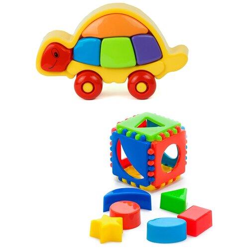Купить Набор развивающий: Логическая черепашка + Кубик логический малый KAROLINA TOYS, Развивающие игрушки