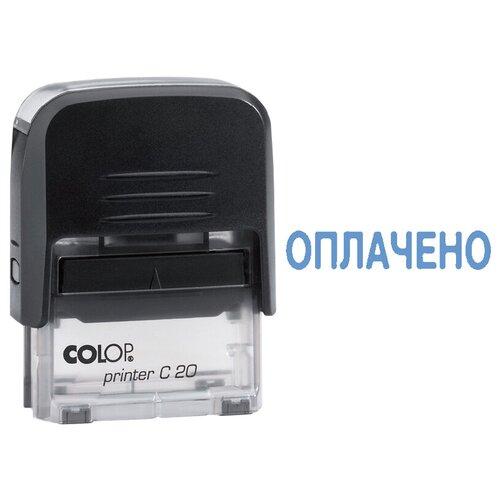 Фото - Штамп COLOP Printer С20 прямоугольный Оплачено синий штамп colop printer с20 прямоугольный оплачено синий