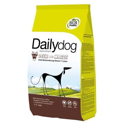 Сухой корм для собак DailyDog оленина, с кукурузой 3 кг