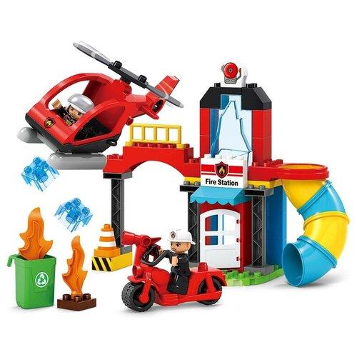 Купить Конструктор JDLT Fire Series 5419 Пожарный спасательный вертолет, Конструкторы