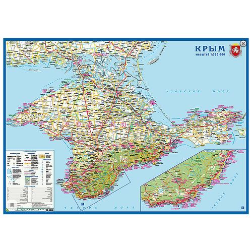 РУЗ Ко Карта настенная Крым (Кр587п), 70 × 96 см