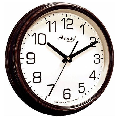 Фото - Часы настенные кварцевые Алмаз A72/A75/A78 темно-коричневый/белый часы настенные кварцевые алмаз a87 коричневый белый
