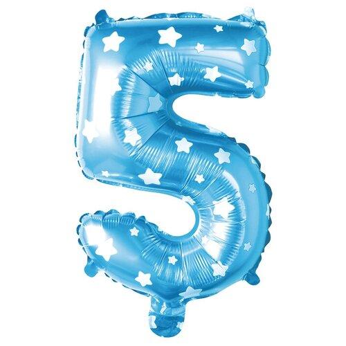 Фото - Воздушный шар Страна Карнавалия Цифра 5 голубой/белый воздушный шар страна карнавалия цифра 5 сиреневый