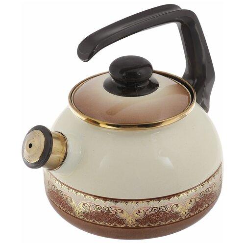 Фото - METROT Чайник со свистком Терракот 2,5 л, коричневый чайник эмалированный со свистком 2 5 л metrot таково кухня 115432