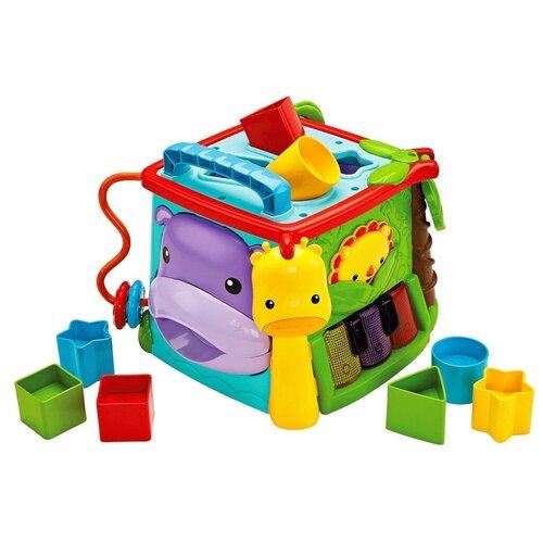 Фото - Интерактивная развивающая игрушка Fisher-Price Обучающий игровой куб (GHT89), голубой/оранжевый/зеленый обучающий робот fisher price бибо