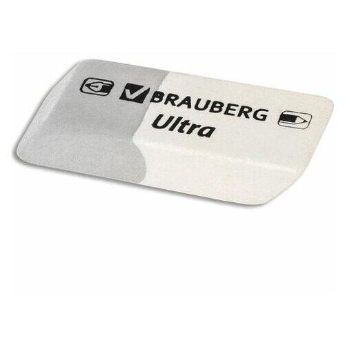 Фото - Ластик BRAUBERG Ultra, 41х14х8 мм, серо-белый, натуральный каучук, 228703 - 15 шт. ластик прямоугольный синтетич каучук белый 39х19х10 мм index пакет