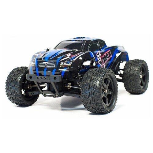 Фото - Радиоуправляемый монстр Remo Hobby SMAX Brushless (синий) 4WD 2.4G 1/16 RTR радиоуправляемый монстр remo hobby mmax upgrade 4wd rtr масштаб 1 10 2 4g rh1035upg blue