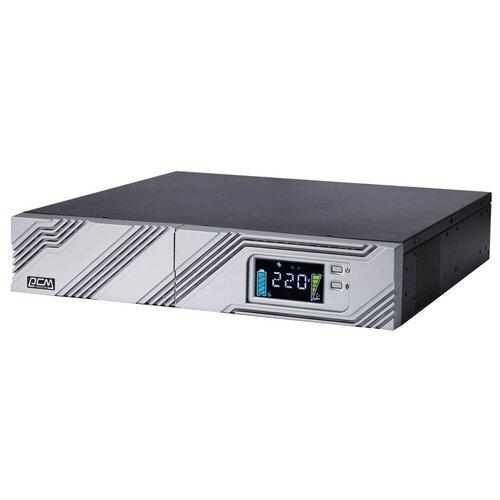 Источник бесперебойного питания POWERCOM Smart King RT SRT-1000A LCD 900Вт 1000ВА черный