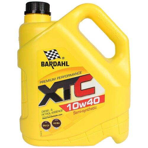 Полусинтетическое моторное масло Bardahl XTC 10W-40 SL/CF, 4 л полусинтетическое моторное масло bardahl xtc 10w 40 sl cf 4 л