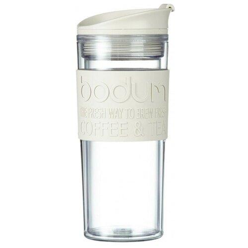 Термокружка Bodum Travel Mug, clip, 0.45 л белый