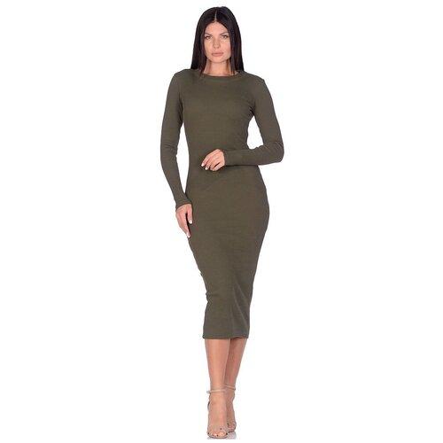 Платье - лапша Perfect look (PM 1901) размер S (44), хаки