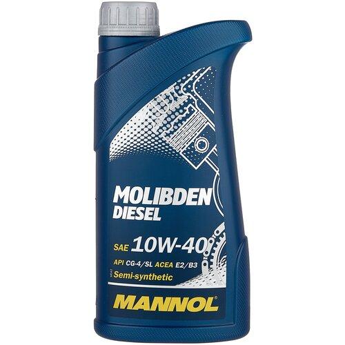 Фото - Полусинтетическое моторное масло Mannol Molibden Diesel 10W-40 1 л минеральное моторное масло mannol ts 1 shpd 15w 40 10 л