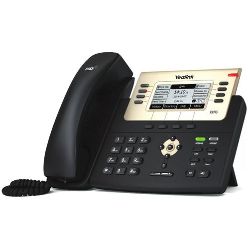 VoIP-телефон Yealink SIP-T27G черный voip телефон yealink sip t27g черный