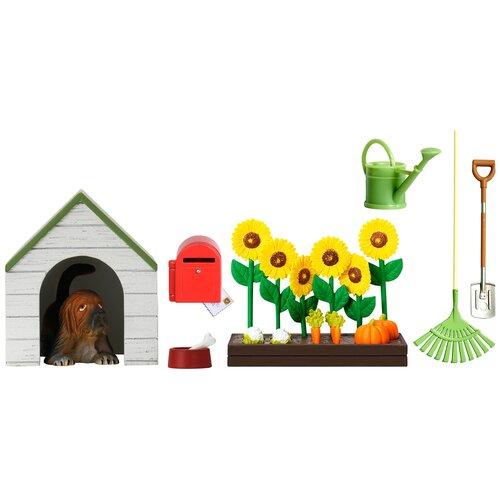 Питомец Lundby Садовый набор с питомцем зеленый/белый/коричневый