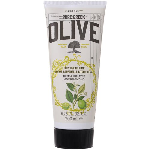 Крем для тела KORRES Pure Greek Olive Олива и лайм, 200 мл недорого