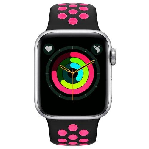 Умные часы BandRate Smart SX1818 серебристый/розовый