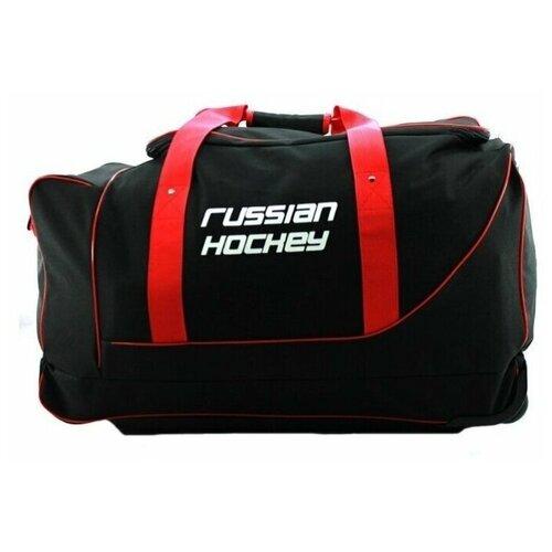 Сумка хоккейная BITEX Баул хоккейный на телеге 24-900 черный/красный полиэстер