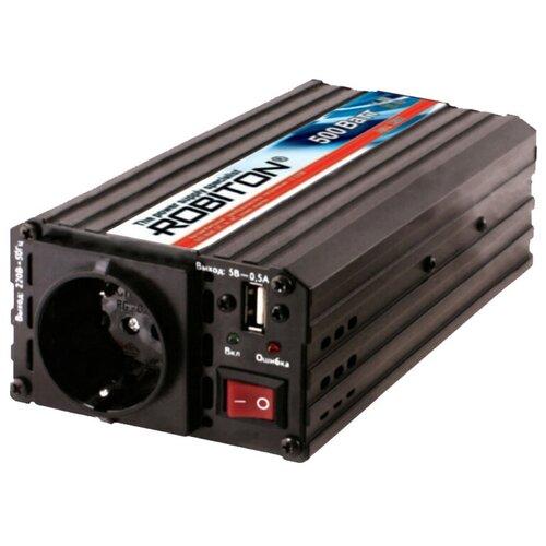Инвертор ROBITON R500 черный автоинвертор robiton r500 24v 500вт с 24в на 220в 13202