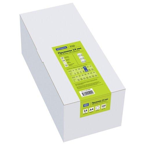 Фото - Пружина OfficeSpace пластиковые 14 мм белый 100 шт. пружина officespace пластиковые 6 мм красный 100 шт