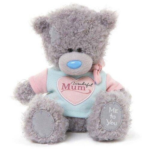Мягкая игрушка Me to you Мишка Тедди в футболке Wonderful mum 17 см
