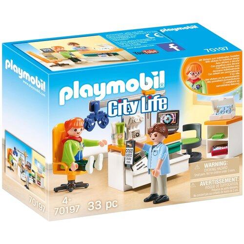 Набор с элементами конструктора Playmobil City Life 70197 Врач-окулист