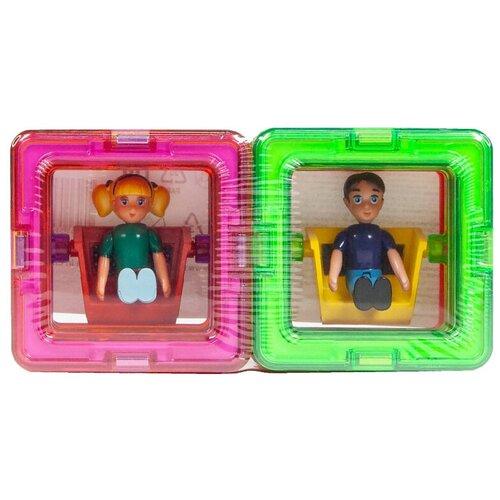 Дополнительные детали Magformers 713123 Квадраты 10 + Мальчик + Девочка дополнительные детали magformers 713016 супертреугольники в коробке 12