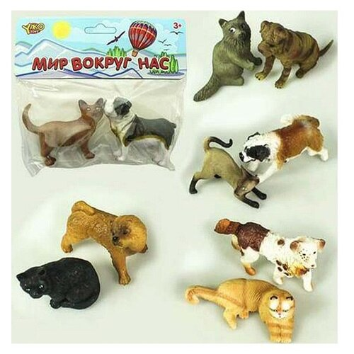 Купить Набор кошка с собакой, серия Мир вокруг нас , 6 видов, BONDIBON, Игровые наборы и фигурки