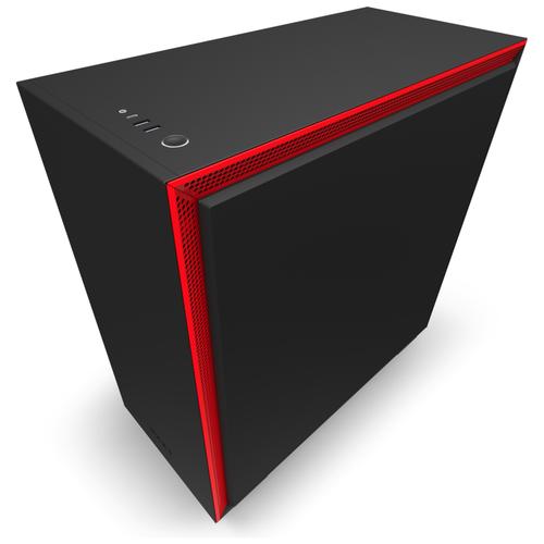 Компьютерный корпус NZXT H710 Black/red
