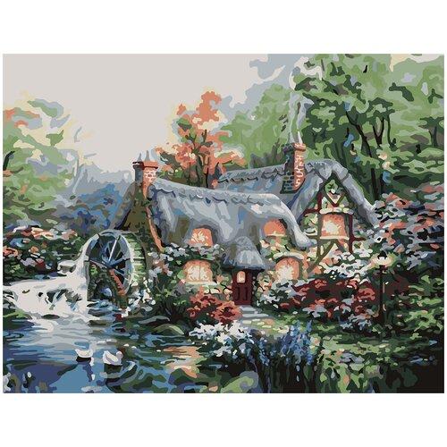 Купить Картина по номерам Мельница, 70 х 100 см, Красиво Красим, Картины по номерам и контурам