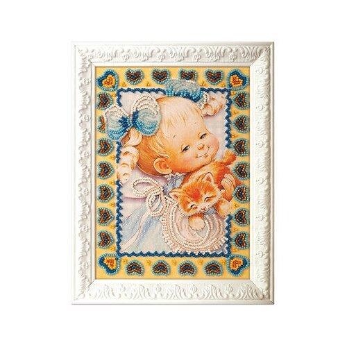 Набор для вышивания Радуга бисера В-504 Милый котенок 13 х 18 см, Наборы для вышивания  - купить со скидкой