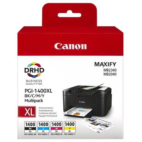 Фото - Набор картриджей Canon PGI-1400 BK/C/M/Y XL Multipack (9185B004) набор картриджей canon 718bk vp 2662b005