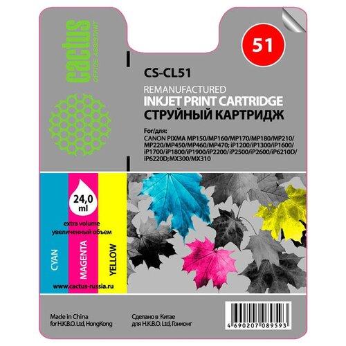 Картридж cactus CS-CL51, совместимый