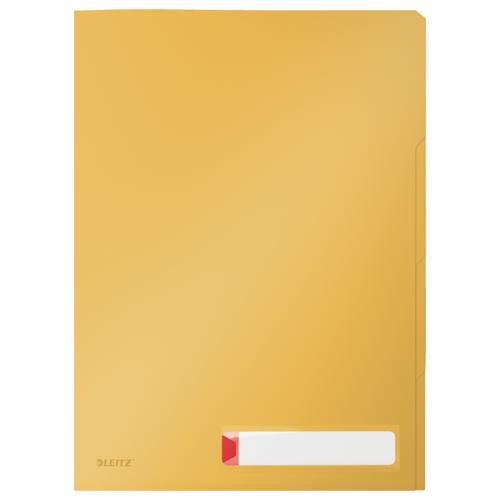 Папка-уголок с разделителями Leitz Cosy, 3 шт. в уп., желтый папка уголок leitz с расширением на 20см 200 мк прозрачная цена за штуку 40563003