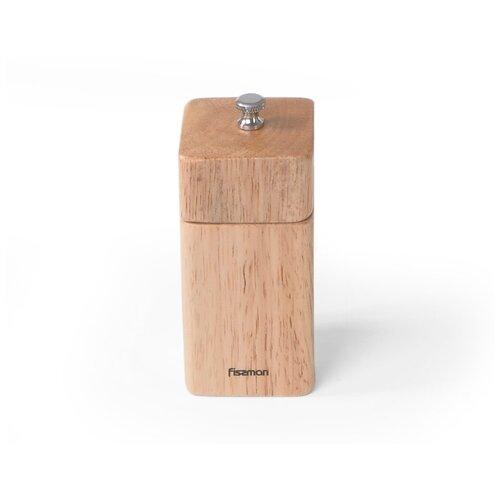 мельница для перца фигурная fissman 11x5 см Мельница для соли и перца Fissman квадратная 11x5 см (деревянный корпус) (8185)