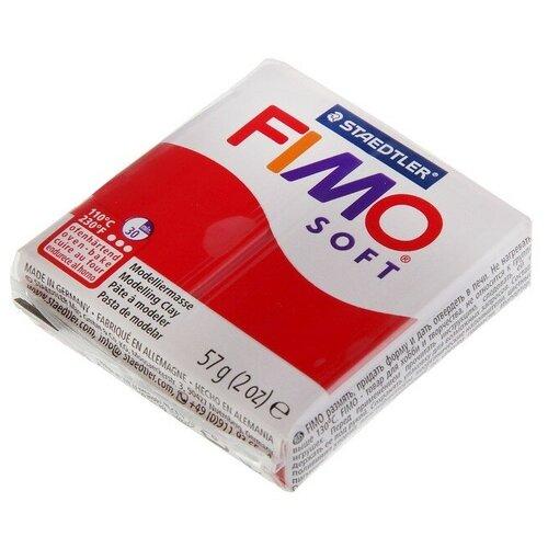 Купить Полимерная глина FIMO Soft запекаемая рождественский красный (8020-2P), 57 г, Глина