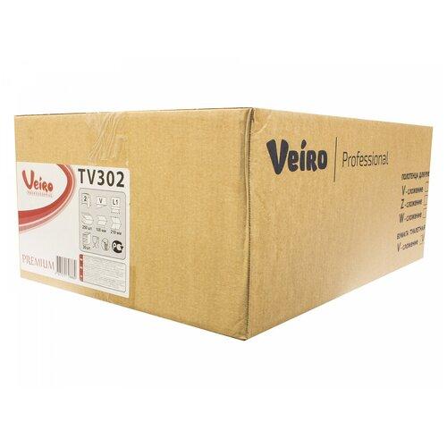 Туалетная бумага Veiro Professional Premium TV302 белая двухслойная, 30 уп., 250 лист.
