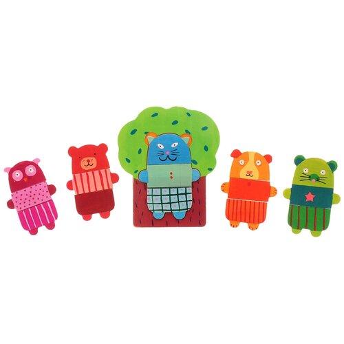 Рамка-вкладыш DJECO Деревянные зверюшки (01681), 15 дет. деревянные игрушки djeco звуковая рамка вкладыш ферма