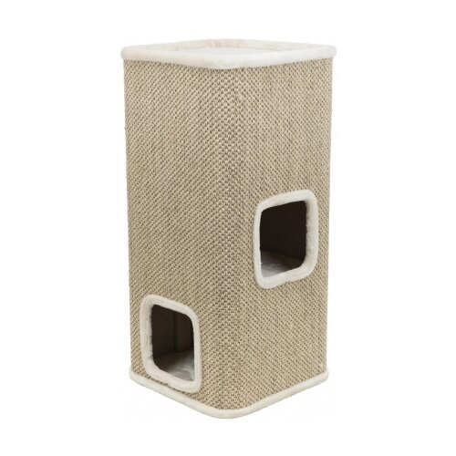 Домик-когтеточка для кошек Trixie Corrado, кремовый, 48*48*100 см