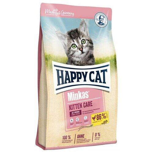 Сухой корм для котят Happy Cat Minkas, с птицей 10 кг