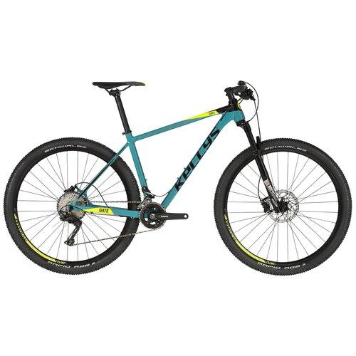 Горный (MTB) велосипед KELLYS Gate 50 27.5 (2019) turquoise S (требует финальной сборки) горный mtb велосипед kellys desire 90 2019 grey green m требует финальной сборки