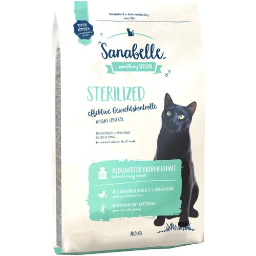 Фото - Сухой корм для стерилизованных кошек Sanabelle Sanabelle Sterilized Weight Control 10 кг sanabelle sanabelle snack полувлажное лакомство для кошек для улучшения пищеварения с сайдой и инжиром 55 г